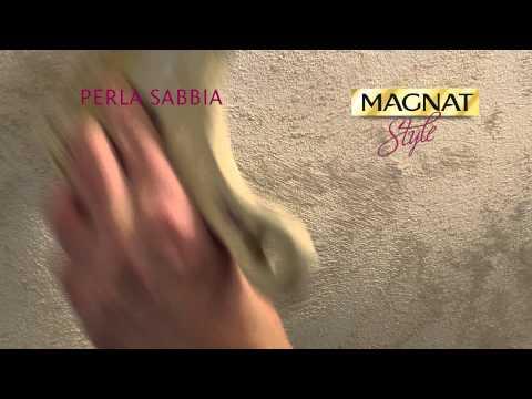 Efekt perłowego piasku na ścianie - Perla Sabbia Magnat Style - film instruktażowy