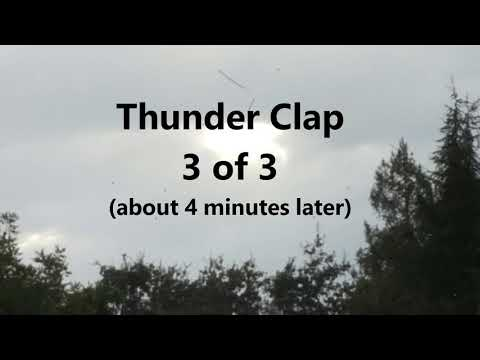 Really Loud Thunder in Redwood City 9 11 17