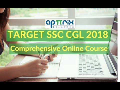 TARGET SSC CGL 2018 : Aiming Top 100 Rank. Join Apttrix eClasses New Online Batch.
