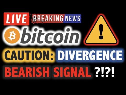 BITCOIN CAUTION: Bearish Divergence?! ⚠️ LIVE Crypto Analysis TA & BTC Cryptocurrency Price News