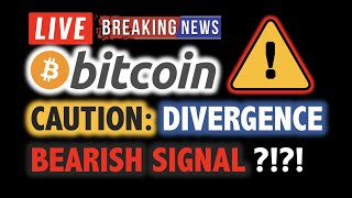 BITCOIN CAUTION: Bearish Divergence?! ⚠️ LIVE Crypto Analysis TA & BTC Cryptocurrency Price News