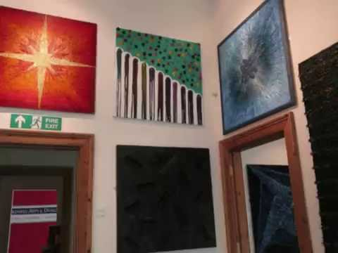 Abstract art exhibition in bakewell , Derbyshire , UK