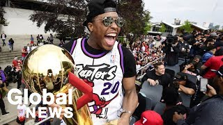 Raptors victory parade:  Fred VanVleet, Kyle Lowry thank the #6ix
