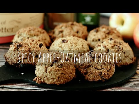 Eng Rus Sub | Spicy Apple-Oatmeal Cookies / Vegan