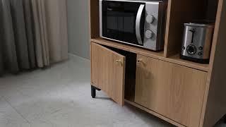 준플러스 멀티다용도 주방수납장 뎀버경첩 문닫힘동영상