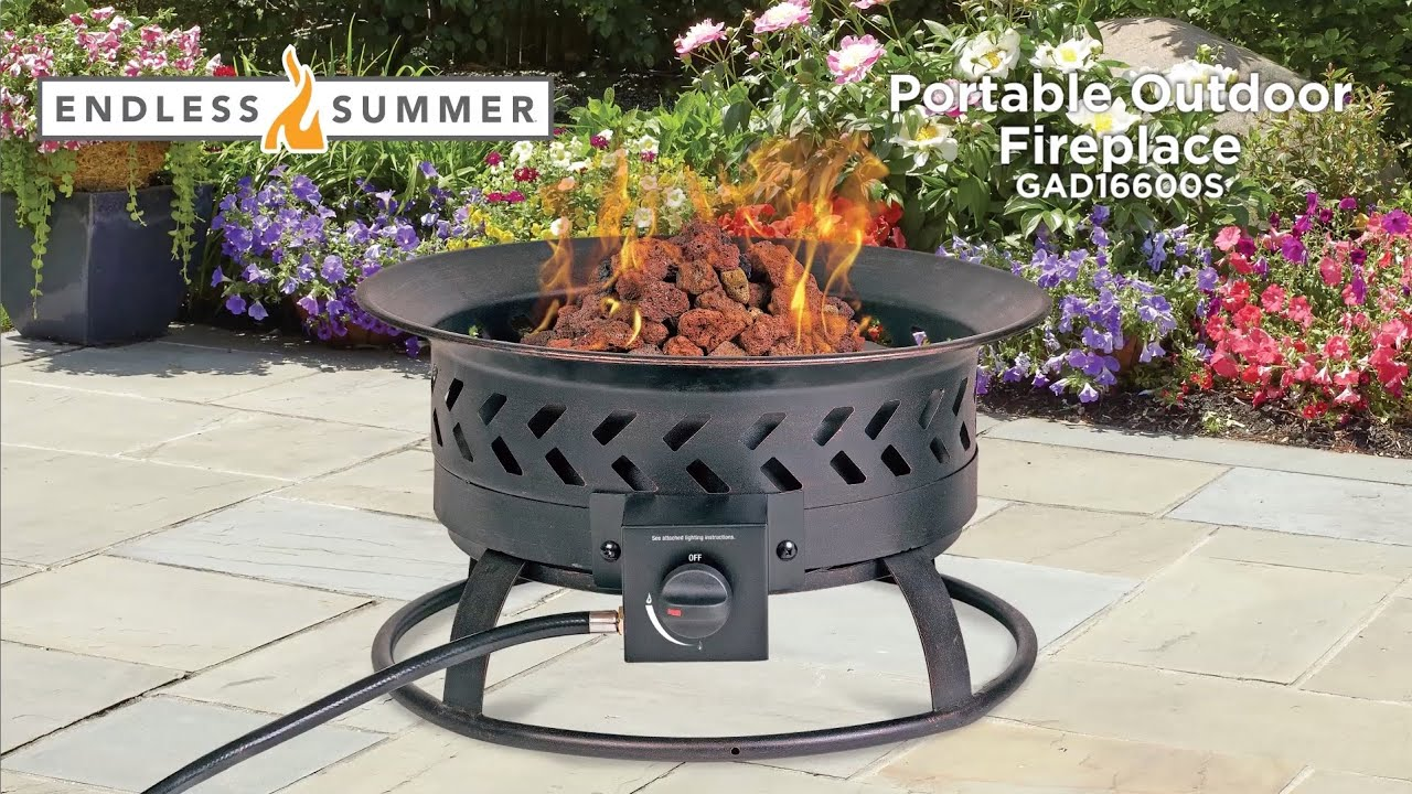 Endless Summer Portable Lp Gas Fire Pit Features Video Model Gad16600s