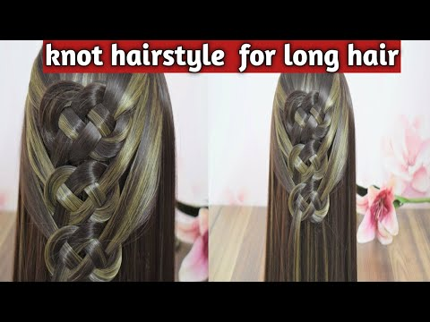 KNOT HAIRSTYLE FOR LONG HAIR|EASY KNOT HAIRSTYLE FOR GIRLS|HAIRSTYLES BY SZED