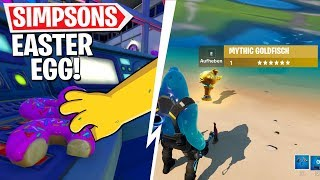10 EASTER EGGS & Geheimnisse! Mythischer Goldfisch, Simpsons, Bunker in Fortnite