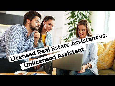 Licensed Real Estate Assistant Job Description Vs. Unlicensed Assistant
