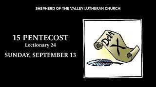 15 Pentecost Worship - September 13, 2020