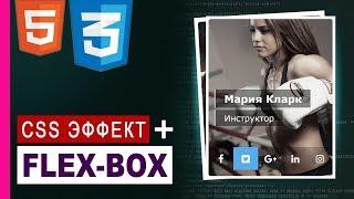 CSS3 flexbox практика | Эффект при наведении в CSS