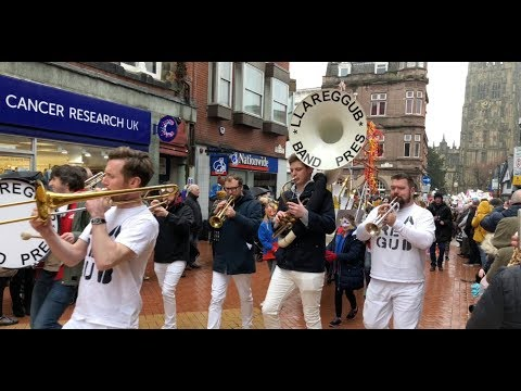 Everybody's Monday Parade & Ribbon Cutting Of Tŷ Pawb In Wrexham