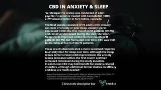 CBD for help with Sleep and Anxiety, Medical tests