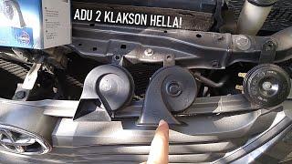 Klakson baru Review Hella Midnight Black Horn vs Black Twin Tone Horn di Toyota Innova
