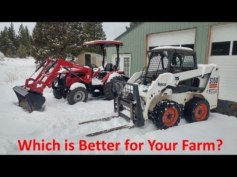 Skidsteer or Tractor: Which is Better for Your Farm?