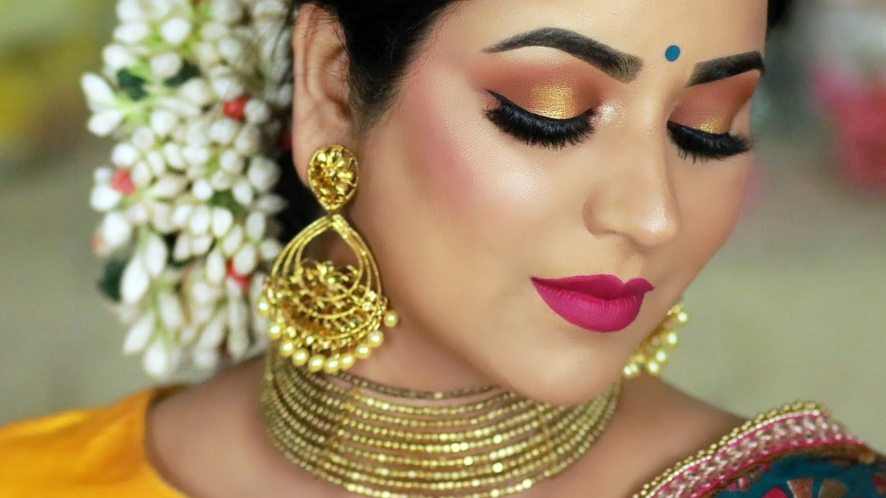 Traditional Indian Wedding Guest Makeup Tutorial Sunset Halo