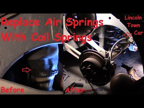 how to fix the rear suspension on a lincoln town car (air spring to -