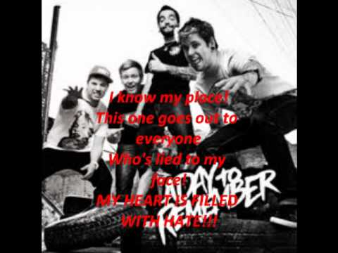 Sticks and bricks (with lyrics) - A day to remember