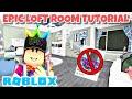 KIDS LOFT ROOM TUTORIAL! NO MULTIPLE FLOOR GAMEPASS! | Roblox | Bloxburg | Speedbuild