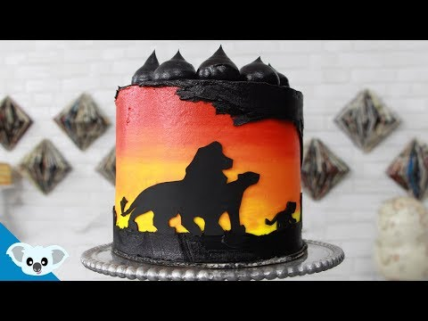 The Lion King Silhouette Cake   Disney Party Ideas   DIY & How To