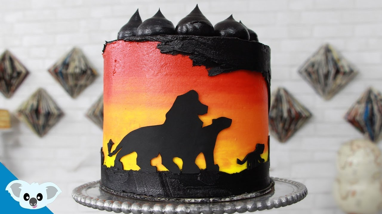 The Lion King Silhouette Cake Disney Party Ideas Diy