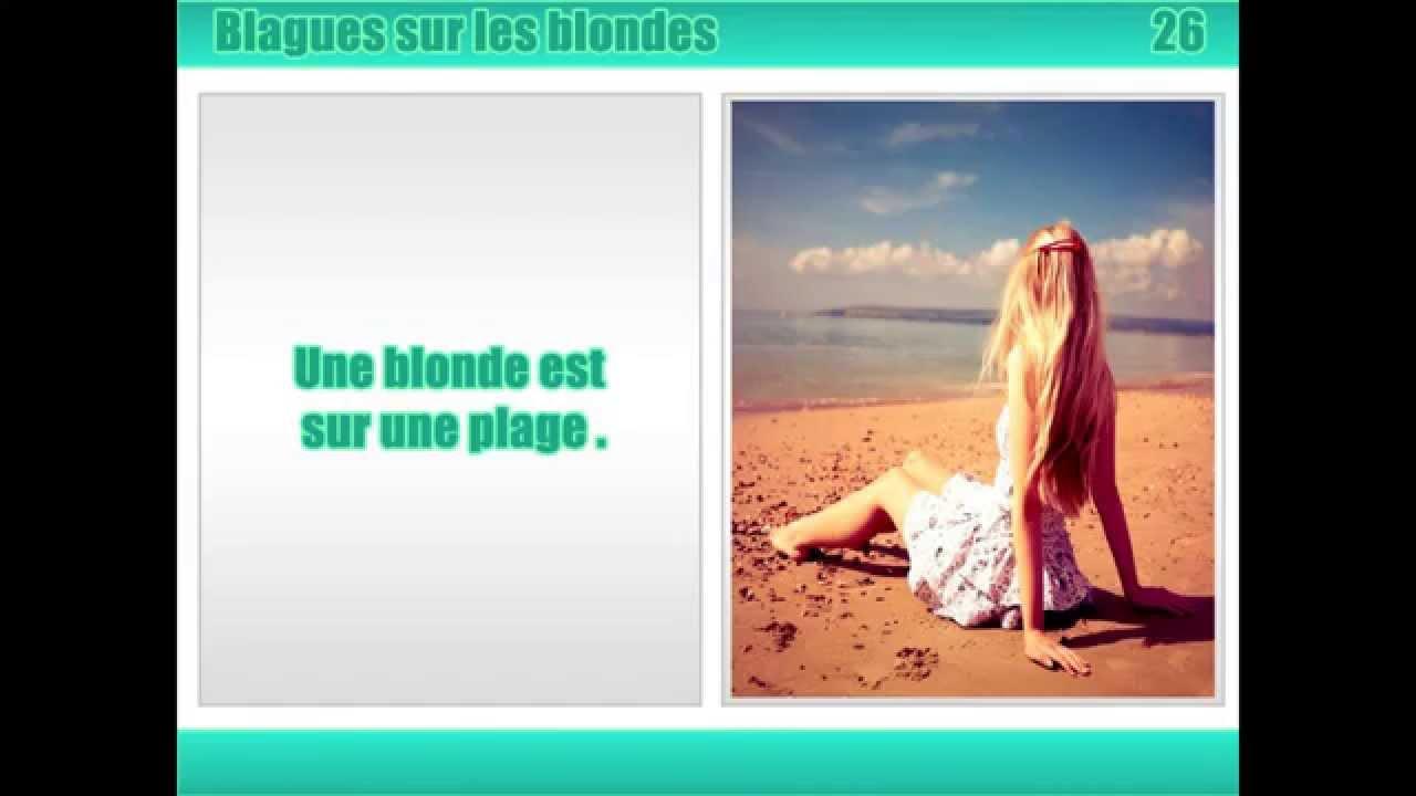 Mister Blague  Photo : Blonde qui va tomber