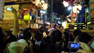 超~ド迫力!!川越祭り 夜の曳っかわせ 菅原町の山車