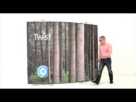 Twist 3 Panel Flexi-link Kit | How to assemble your Flexible Twist Exhibition Stand.