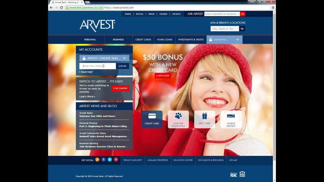 Arvest Bank Online Banking Login   banklogindir com - Online