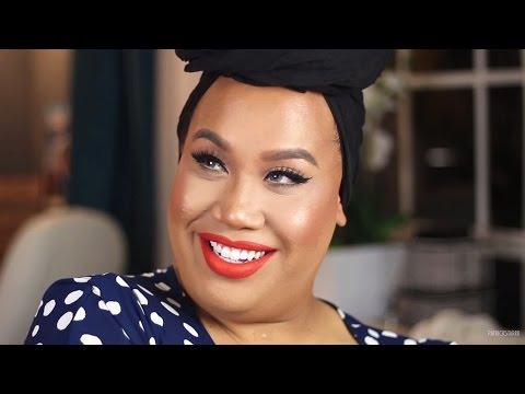 FULL COVERAGE Airbrush Makeup with Orange Lips | PatrickStarrr thumbnail