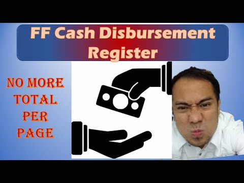 How to accomplish the Cash Disbursement Register (CDReg) for the Fiduciary Fund (FF)