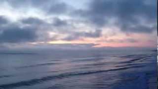 Walk Slow by Heather Berry with Daytona Beach Sunrise From Crabby Joes