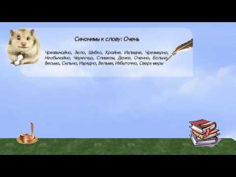 Синонимы к слову очень в видеословаре синонимов онлайн