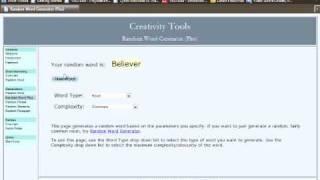 Random Word Generator Freestyle