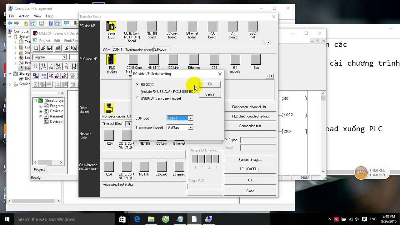 Hướng dẫn lập trình PLC Mitsubishi FX1N -Giới thiệu Kit Demo