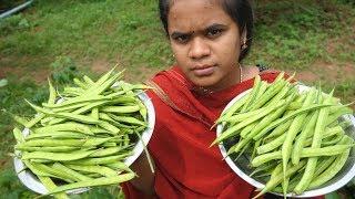 FARM FRESH Cluster Beans Recipe | Cluster Beans Fry | VILLAGE FOOD