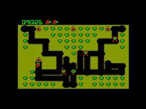 Classic Digger Mayhem - PC Game by Windmill (1983) - Levels 1 - 8