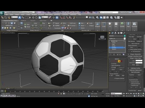 3ds Max Tutorial-How to create a Realistic Soccerball or Football-Easy Steps-Hedra;Dodecs/Icos-P1 - 동영상