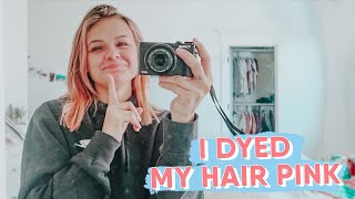 I DYED MY HAIR PINK! FIRST DAY OF VLOGMAS  KESLEY JADE LEROY