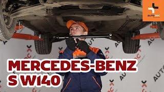 Wymiana amortyzator układu kierowniczego Mercedes-Benz S W140 TUTORIAL | AUTODOC