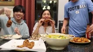 Vlog 92 ll BA MẸ CON ĂN ĐÙI GÀ ĐĂNG CHIÊN KIỂU KFC VÀ KỂ CHUYỆN NHỚ TÊT VIỆT NAM .