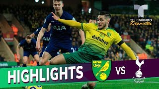 Norwich City Vs. Tottenham: 2-2 Goals & Highlights | Premier League | Telemundo Deportes