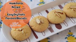 Nankhatai Recipe  Easy Dry Fruits Flavored Biscuits  ननखतई  Priya R  Magic of Indian Rasoi