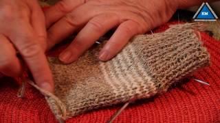 Как вязать пятку носка спицами - Урок 4