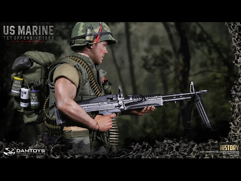 "DAM Toys History Series 1/6th scale Vietnam War U.S. Marine (Tet Offensive, 1968) 12"" figure"
