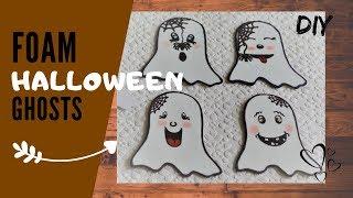 Mini Halloween Ghosts Tutorial   Funny Ghosts DIY   BOO