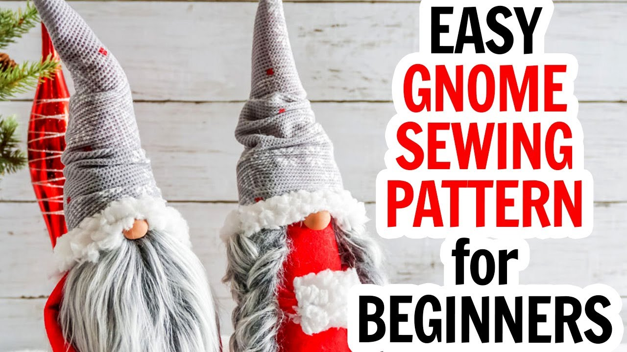 Download Scandinavian Gnome Sewing Pattern - Elegant DIY Christmas Gnome Decor