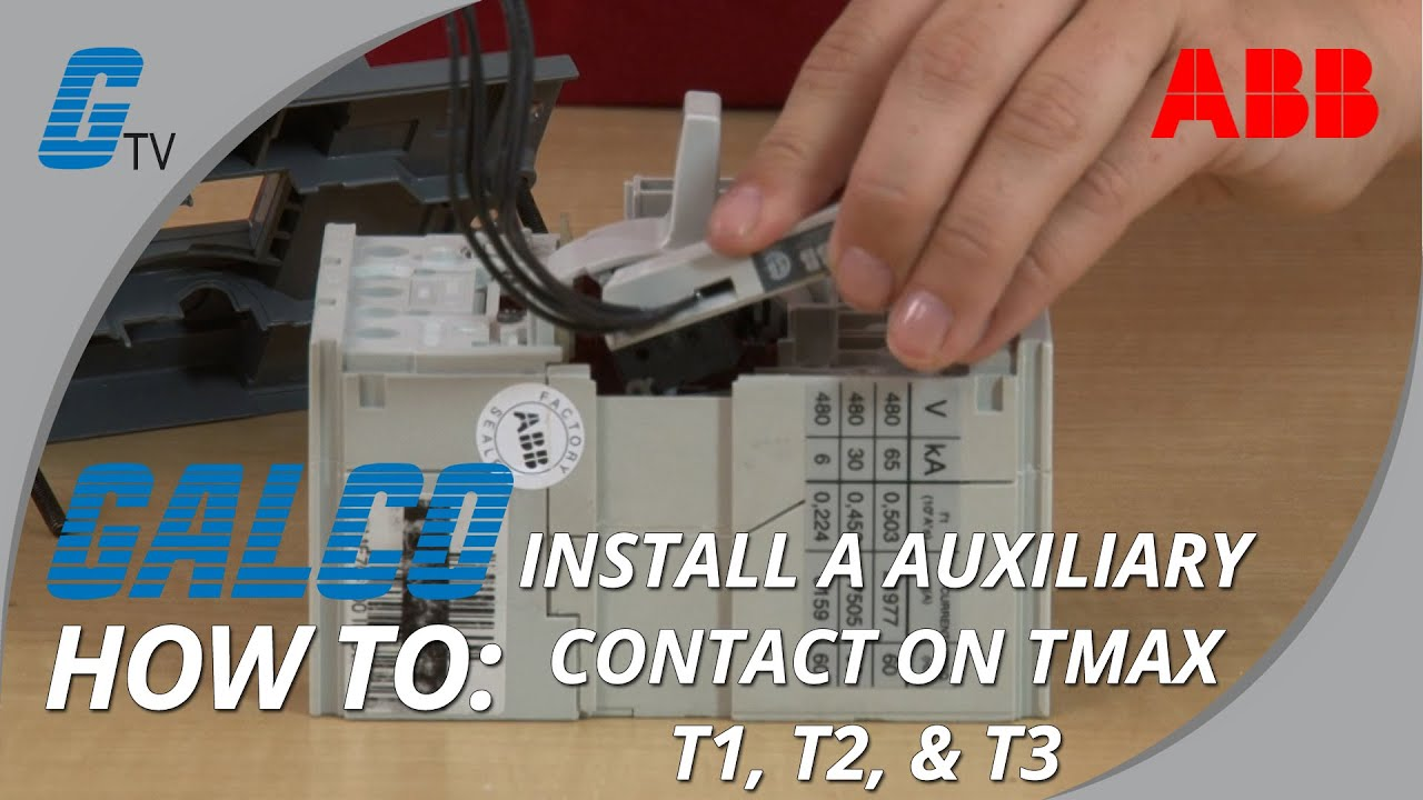 Installing An Auxiliary Contact To Abbs Tmax Series T1 T3 Enclosed Abb Wiring Diagrams Circuit Breakers Youtube