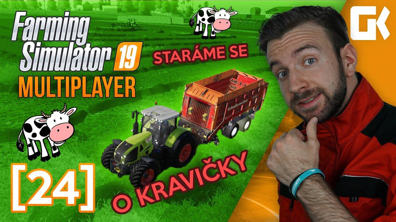 STARÁME SE O KRAVIČKY!   Farming Simulator 19 Multiplayer #24