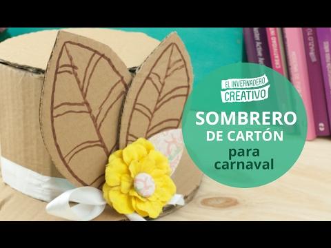 Cómo hacer un sombrero de cartón - How to do a cardboard hat - YouTube 3879cc84fc4